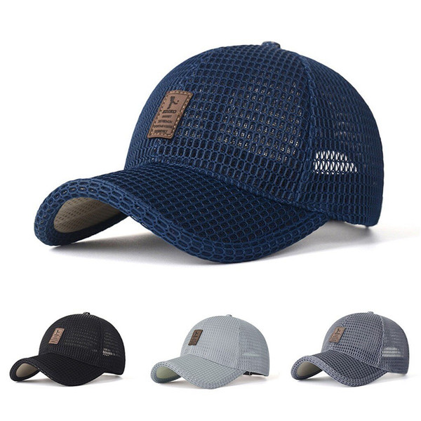 New Arrival Adult Unisex Mesh Baseball Caps Adjustable Cotton Breathable Comfortable  Men