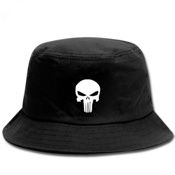 Skull Bucket Hat Men Print hunting fisherman caps Casual Unisex sports Basin caps