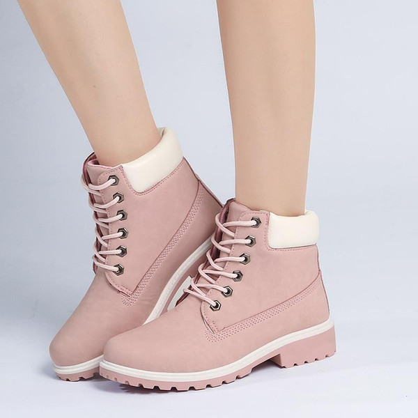 2018 Hot New Autumn Early Winter Shoes Women Flat Heel Boots Fashion Keep warm Women's Boots Brand Woman Ankle Botas Camouflage - Joelinks store