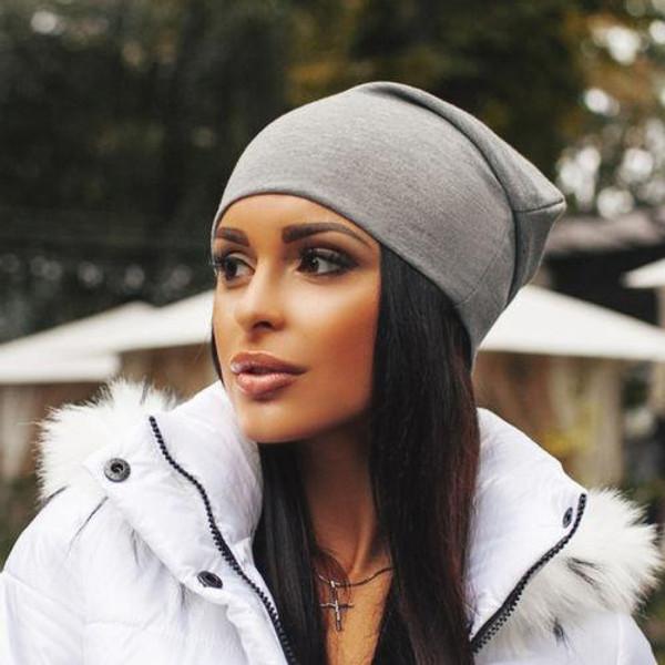 Unisex Women Men Knit Winter Warm Ski Crochet Slouch Hat Cap Beanie Oversize