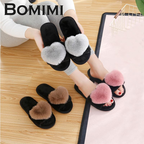 BOMIMI Women Cotton slippers Women Warm Heart Slippers Winter Cotton Shoes Indoor Thermal Home shoes Flip Flop 7 Styles - Joelinks store
