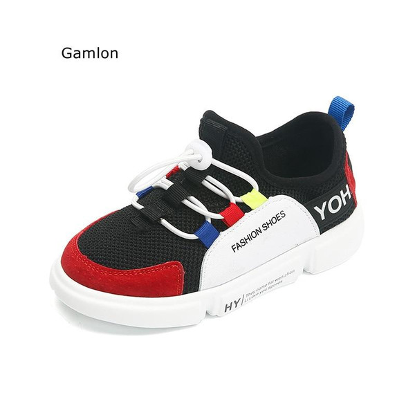 Gamlon Girls Sneakers 2018 New Children's Sports Shoes Primary School Students Breathable Mesh Casual Shoes Boys Footwears - Joelinks store