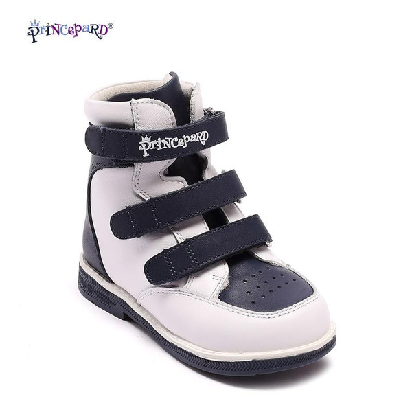Princepard Genuine Leather Boys Girls Orthopedic Footwears include Orthotic Arch Support Flat Foot  kids shoes baby shoes - Joelinks store