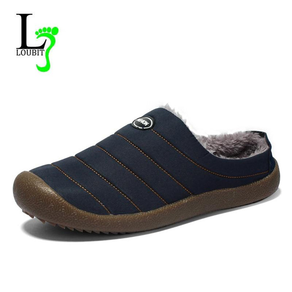 2018 Winter Shoes Men Waterproof Warm Casual Shoes With Fur Men Loafers Flats Canvas Shoes Male Footwear hombre Plus Size 48 - Joelinks store