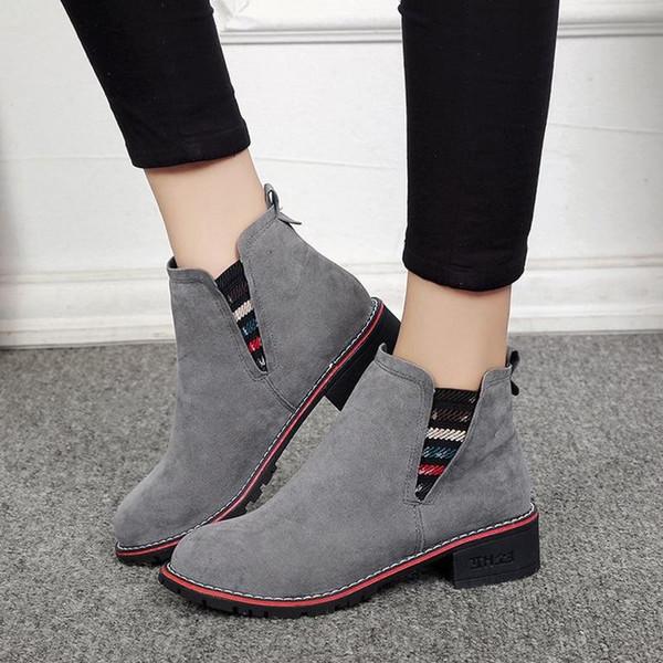 2019 New Arrive Women Fashion Boots Slip-on Autumn&Winter Shoes - Joelinks store