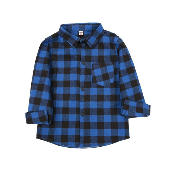 2019 summer new children's clothing Europe and the United States 2-8 years old boy and girl cotton plaid shirt children's shirt - Joelinks store