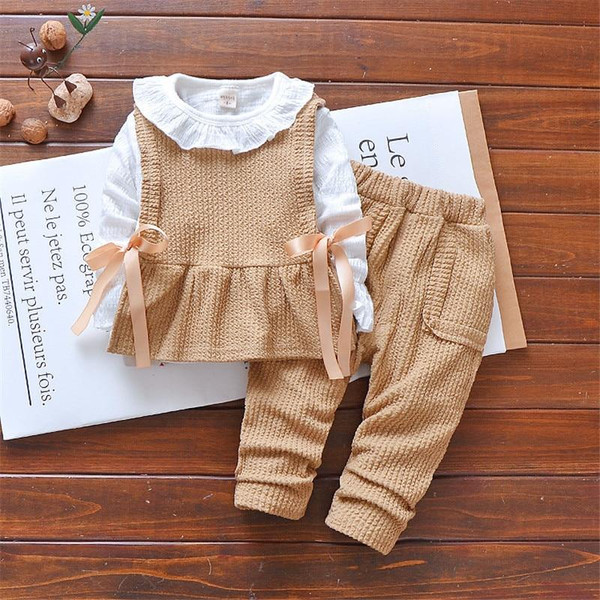 3 pcs girl clothing sets fashion children cloths for girls sportswear 2019 kids Cotton tracksuit 2 years Toddler outfit costume - Joelinks store