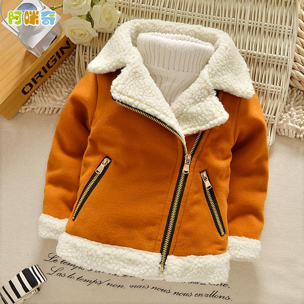 Children's Winter Thick Boys Coat Autumn and Winter Girl Jackets Models 2019 Lamb Fur Coat Kids Jacket Korea Parka Kids - Joelinks store