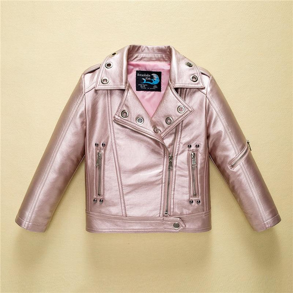 Leather Jacket for Boys Girls Autumn Fashion Brand Coat Toddler Children Clothes 2018 Winter Kids Baby Jackets Infant Outerwear - Joelinks store