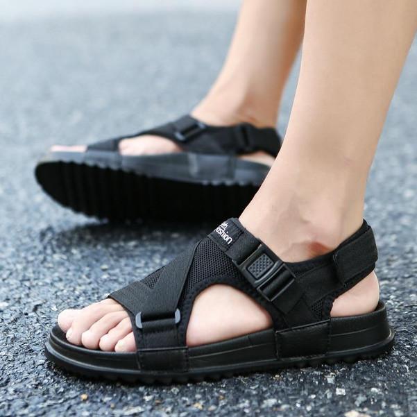 Sandals Men shoes 2018 Gladiator Men's Sandals Roman Men Shoes Summer Flip Flops Gray Black Flat Sandals Large Size 45 46 - Joelinks store