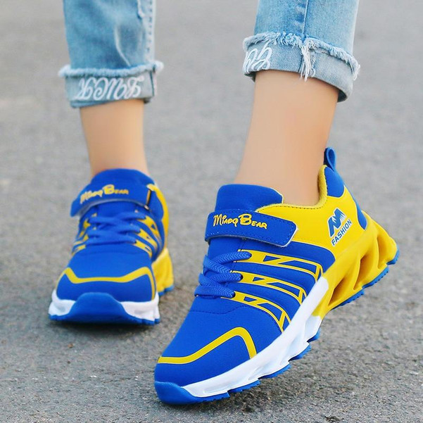 2020 Autumn Kids Shoes Boys Sneakers Breathable Patchwork Hook&Loop Sport Running Children Shoes For Girls Casual Shoes - Joelinks store