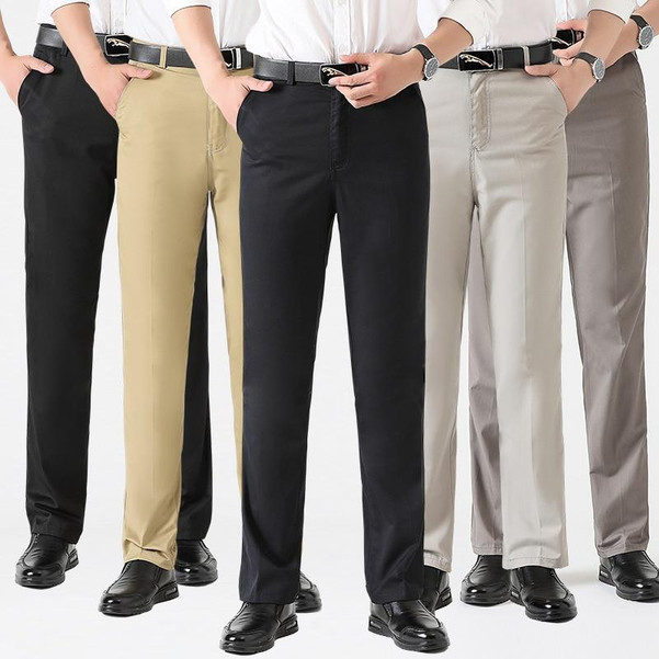 Astfsc 2020 New Fashion Casualwear Lightweight Pants High Waist Straight High Quality Cotton Thin Men Trousers For Men