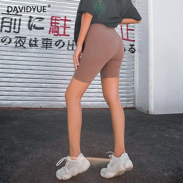 2020 Summer vintage high waist shorts women sexy biker shorts