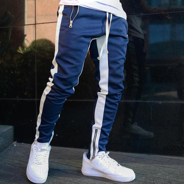 Mens Joggers Casual Pants Fitness Men Sportswear Tracksuit
