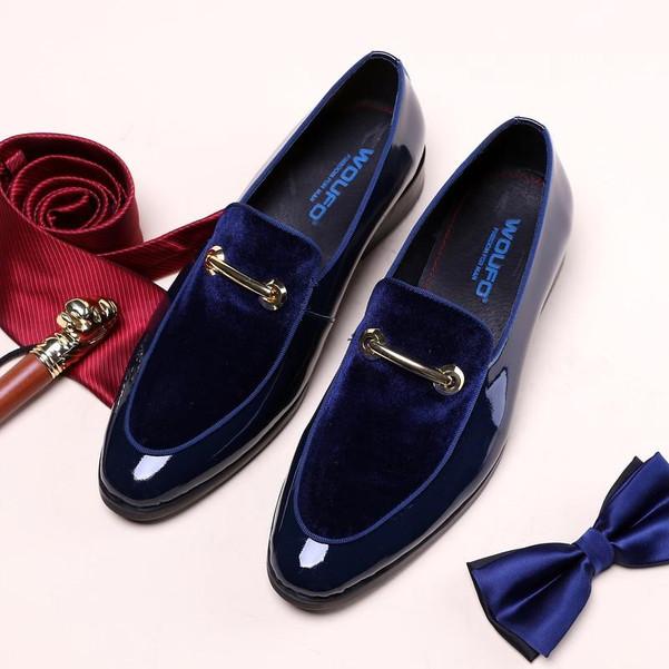 New Men Dress Shoes Shadow Patent Leather Luxury Fashion Groom Wedding Shoes Men Luxury italian style Oxford Shoes Big Size 48 - Joelinks store