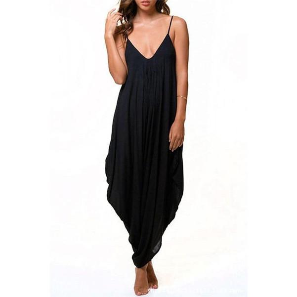 2019 Long Bodysuit Fashion Summer Women's Harem Romper Jumpsuit Combinaison Femme Elegant Coveralls Playsuit Macacao Clothing - Joelinks store