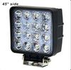 "Voltage Automotive 4"" Inch Square 48W LED Flood Work Light KLL01 (4 Pack)"