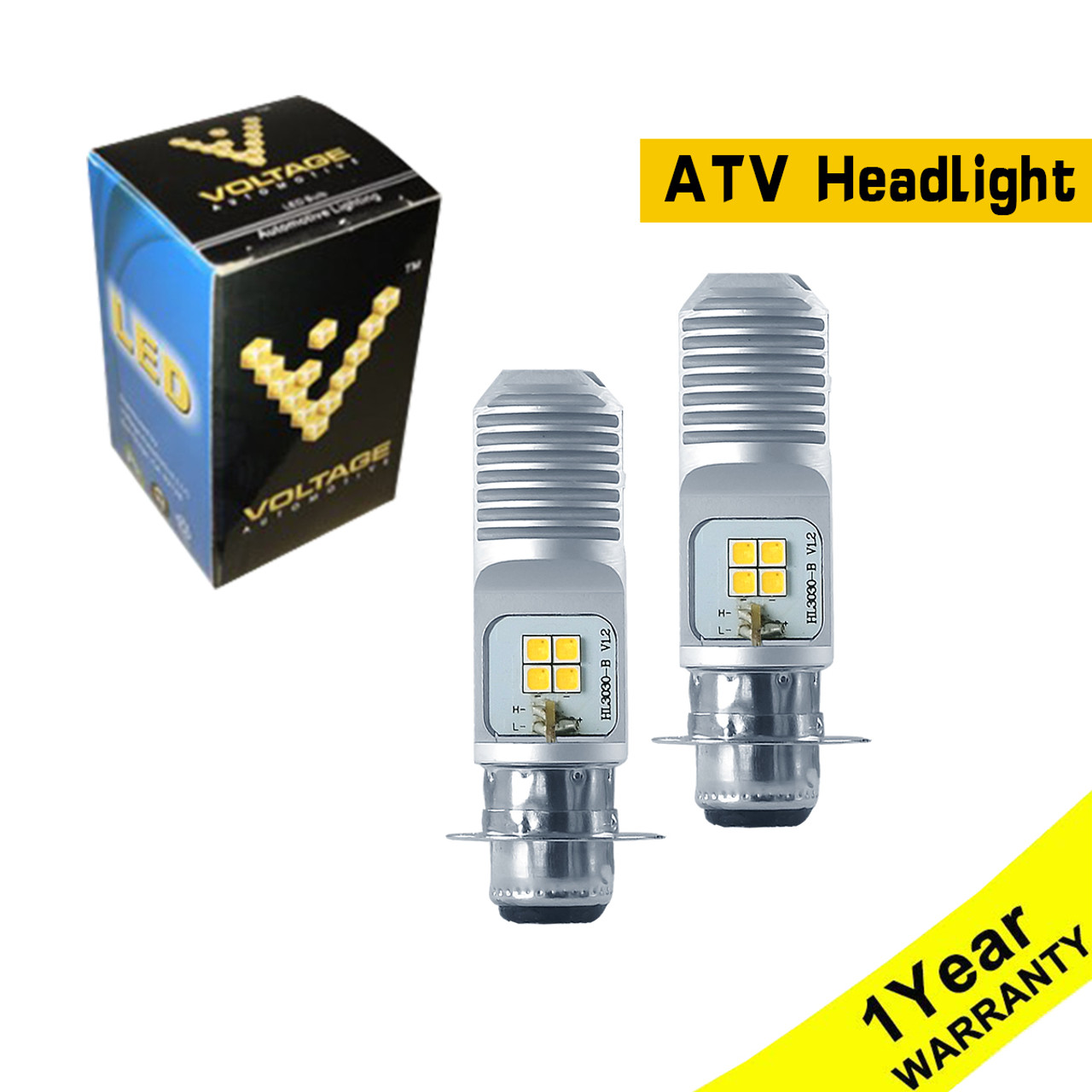 2Pcs White 34901-HR3-A21 Headlight LED Light Bulbs For TRX420 TRX500 2014-2018