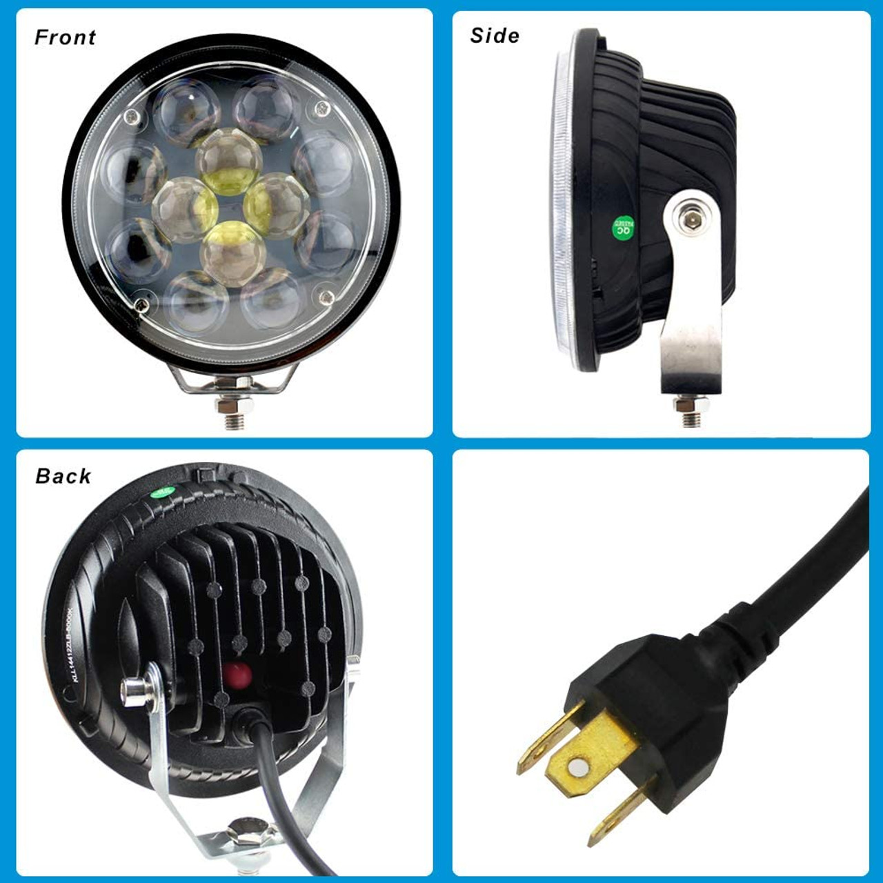 "WOW 5/"" 32W 8LED Spot 4D Lens Work Light Bar Offroad Truck Light Lamp 12V 4X4"