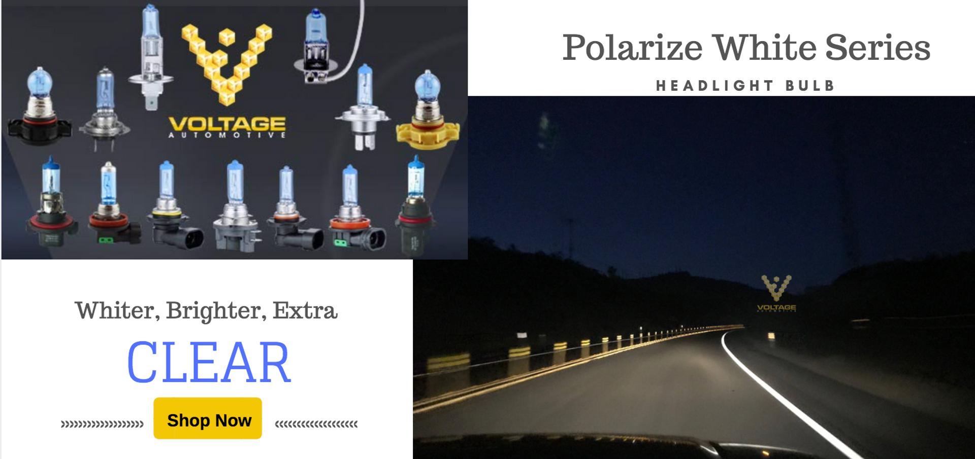 VOltage Automotive Polarize White Headligth Bulb