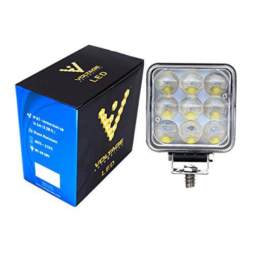 """4"""" inch Square Fisheye Lens 27W LED Light Spot Light Beam"""