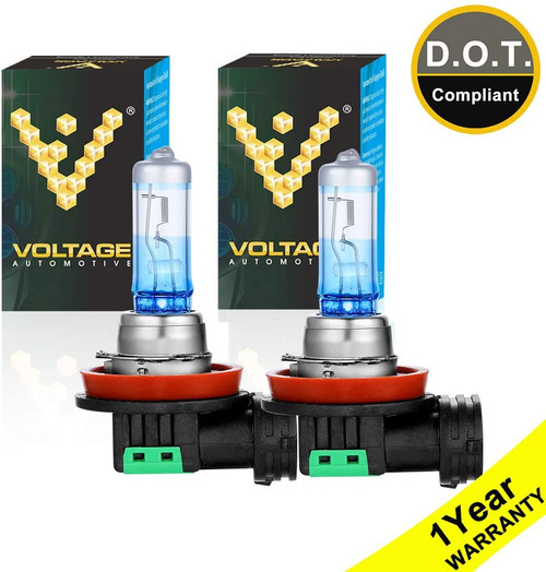 Voltage Automotive H11 Night Eagle Headlight Bulb 64211 Brighter Upgrade Replacement (Pair)