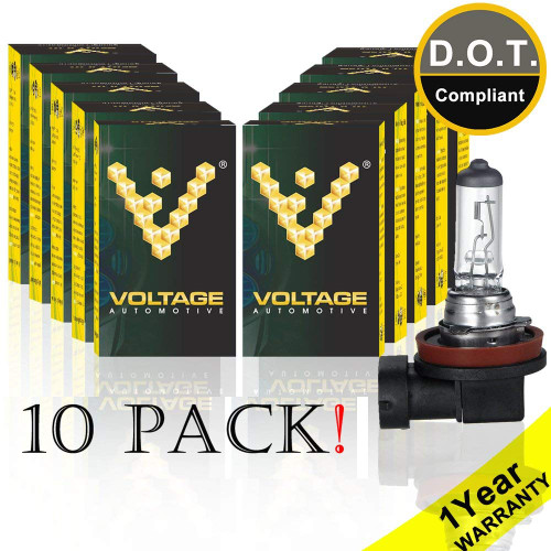 Voltage Automotive H11 64211 Standard Headlight Bulb (10 Pack)