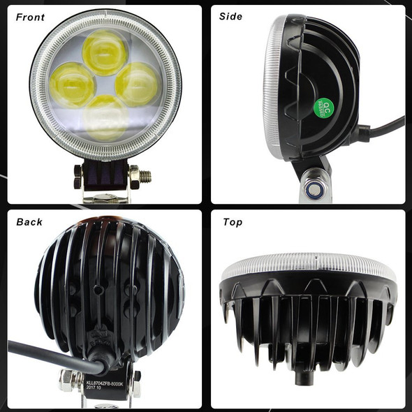 Voltage Automotive 3 Inch Round LED Fog Driving Light 12W Spot Light Pod With Fisheye Lens