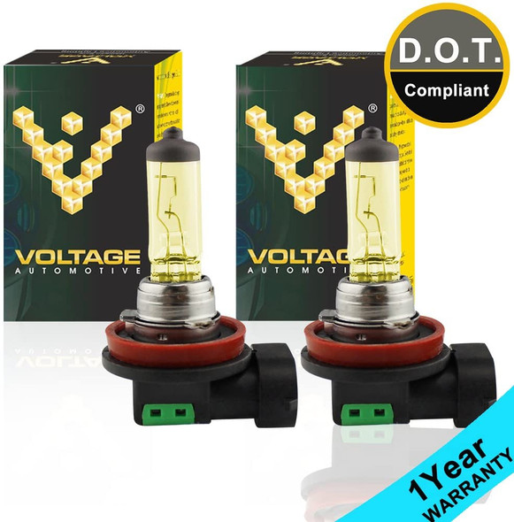 Voltage Automotive H16 Super Yellow Headlight Fog Light Bulb (Pair)