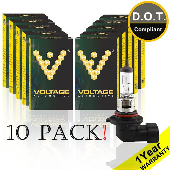Voltage Automotive H10 9145 Standard Headlight Bulb (10 Pack)
