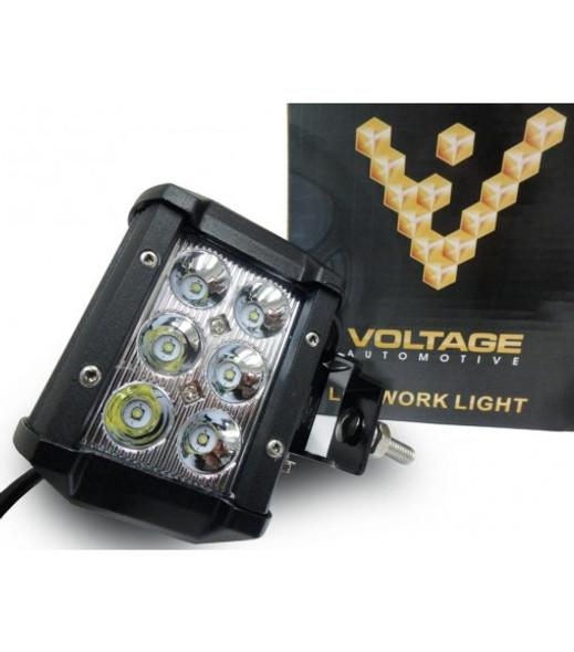 """Voltage Automotive LED Light Bar 4"""" Inch 18W Spot Light Cube Pod"""