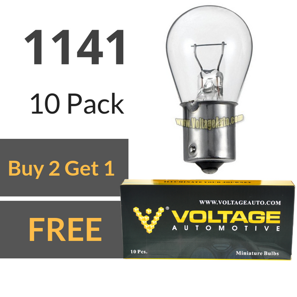 Voltage Automotive 1141 Brake Tail Light Bulb Turn Signal Bulb Side Marker Light Bulb (Box of 10)