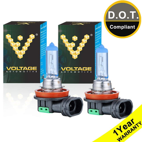 Voltage Automotive H11 Polarize White Headlight Bulb (Pair)