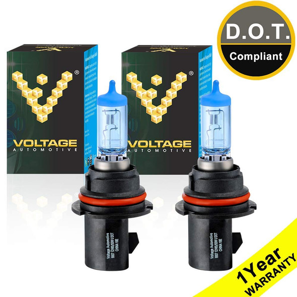Voltage Automotive 9007 HB5 Polarize White Headlight Bulb (Pair)
