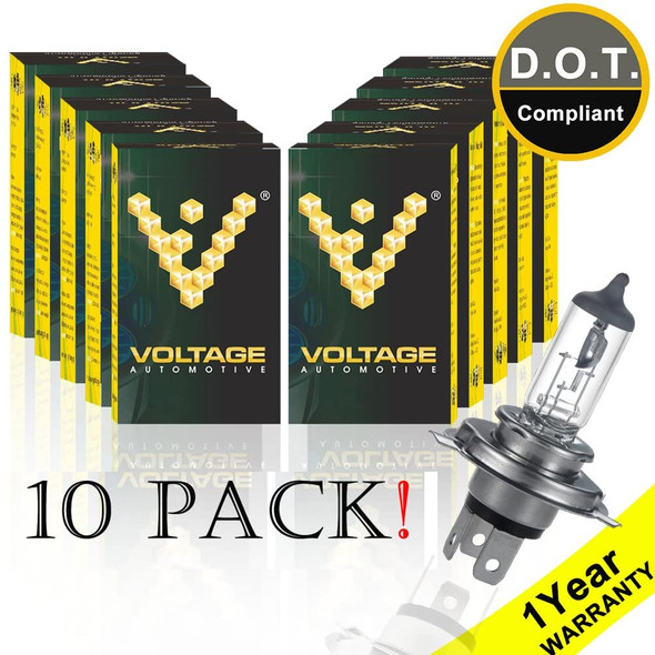 Voltage Automotive 9003 HB2 Standard Headlight Bulb (10 Pack)