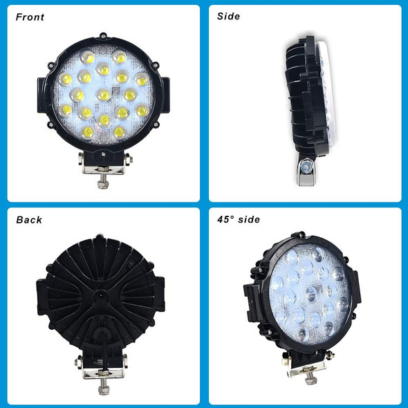 Voltage Automotive 51W LED Work Light 6 Inch Round Slim Fit Fog Driving Light 6000K