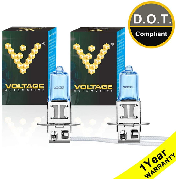 Voltage Automotive H3 Polarize White Headlight Fog Light Bulb