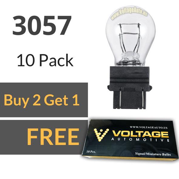 Voltage Automotive 3057 Automotive Brake Light Turn Signal Side Marker Tail Light Miniature Bulb (Box of 10)