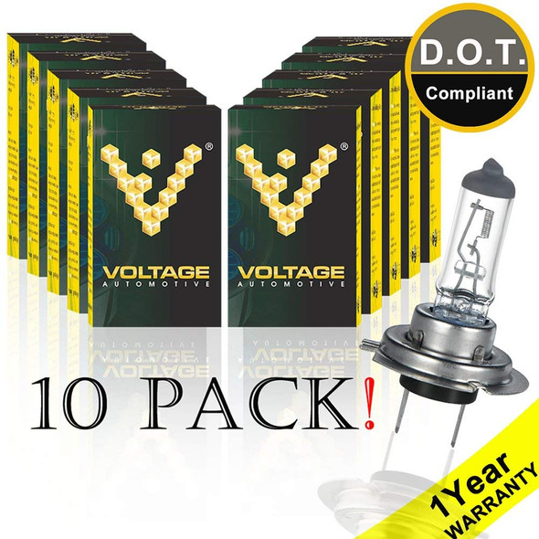 Voltage Automotive H7 Standard Headlight Bulb (10 Pack)