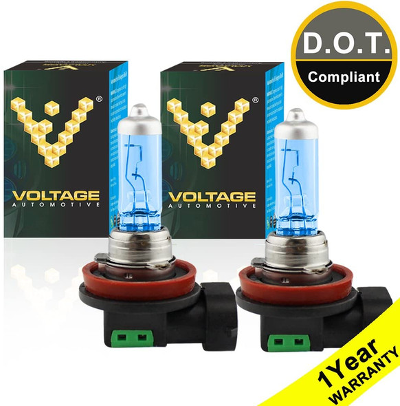 Voltage Automotive H16 4000K White Headlight Fog Light Bulb