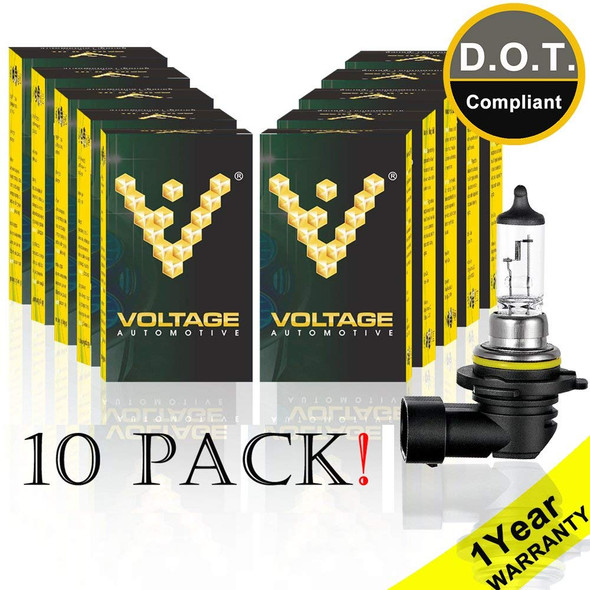 Voltage Automotive 9006 HB4 Standard Headlight Bulb (10 Pack)
