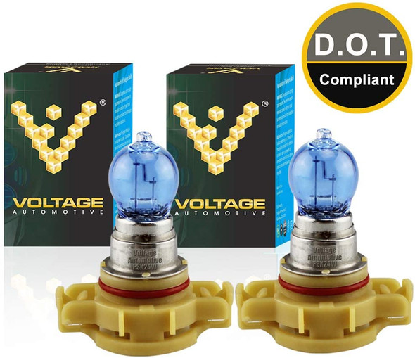 Voltage Automotive PSX24W 2504 4000K White Headlight Fog Light Bulb (Pair)