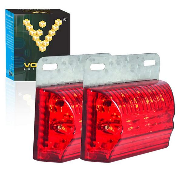 "Voltage Automotive Ground-illuminating LED Tail Brake Light Side-marker Bed Light 3.4"""