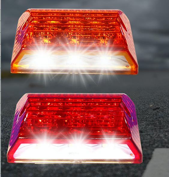 "Voltage Automotive Ground-illuminating LED Tail Brake Light Side-marker Bed Light 3.4"" (Pair)"