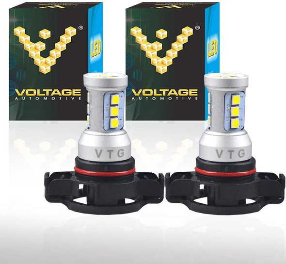 Voltage Automotive PS24W 5202 LED Headlight Fog Light Bulb 4000K White  (Pair)