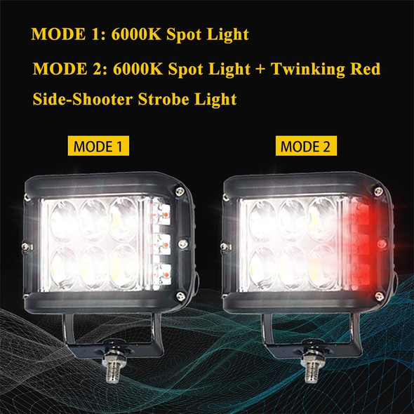 """Voltage Automotive 4"""" LED Cube Strobe Auxiliary Driving Light"""
