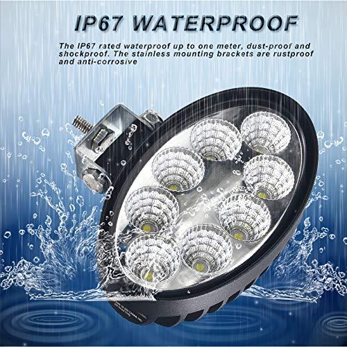 04KLL6010 Oval LED Flood Work Light Super Bright 6000K