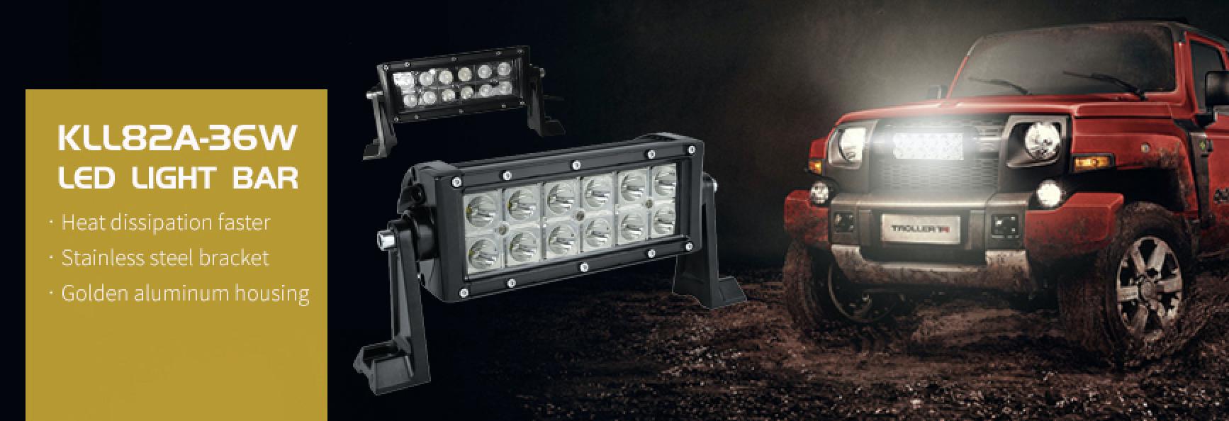 Voltage Automotive 8 Inch LED Flood Work Light 6000K Light Bar