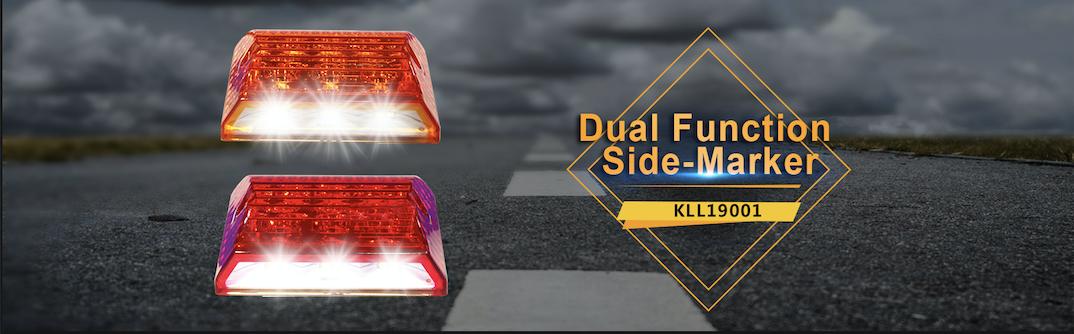 "Voltage Automotive Dual Function Ground-illuminating side-marker 3.4"" 12V"