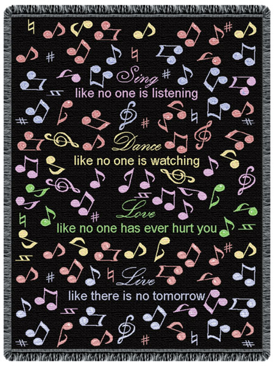 Sing, Dance, Love tapestry throw blanket